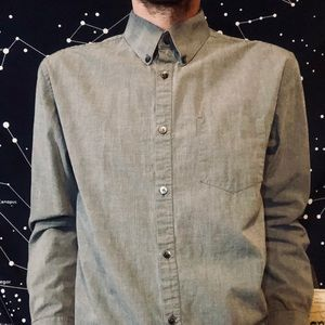 Gray Calvin Klein Dress Shirt